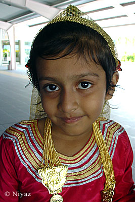 Maldivian girl in a traditional dress