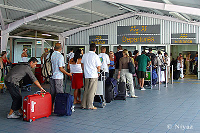 Departure terminal at Male' International Aiport