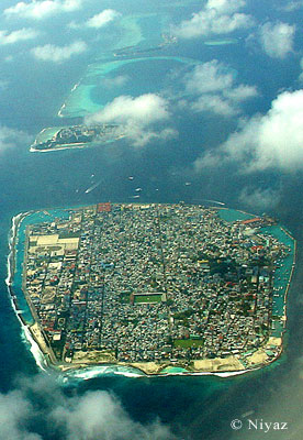 Male' Capital of Maldives from Air